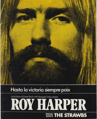 Roy Harper Hasta La Victoria Siempre Paix tour programme UK ROYTRHA651663