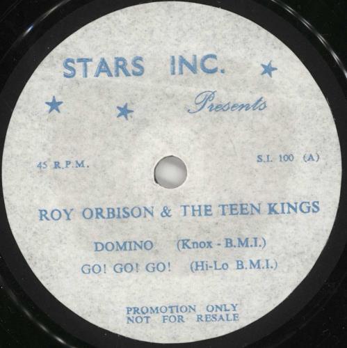 "Roy Orbison Roy Orbison And The Teen Kings 7"" vinyl single (7 inch record) UK RYO07RO720737"