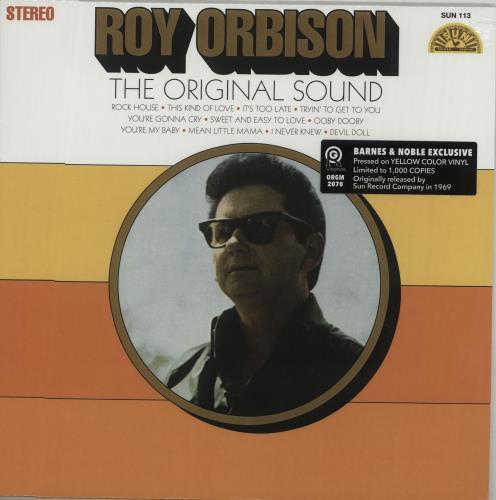 Roy Orbison The Original Sound - Yellow Vinyl vinyl LP album (LP record) US RYOLPTH667613