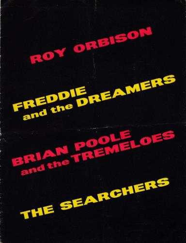 Roy Orbison Tour Programme - EX tour programme UK RYOTRTO603745