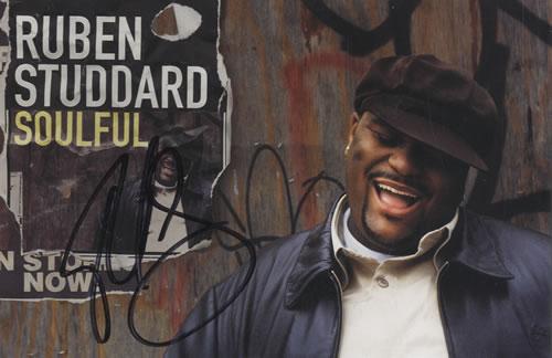 Ruben Studdard Soulful - Autographed Postcard memorabilia US UBDMMSO544536