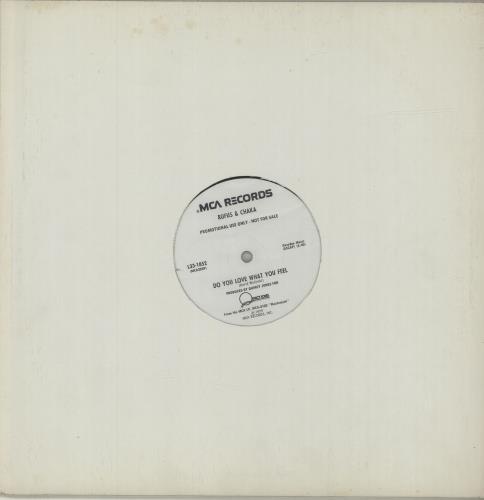 "Rufus & Chaka Khan Do You Love What You Feel 12"" vinyl single (12 inch record / Maxi-single) US KHA12DO681754"