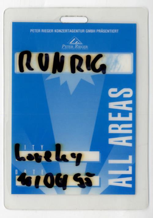 Runrig Tour Pass tour pass German RUNTPTO556843