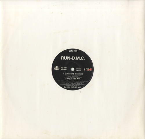 0c887bf12d3d RUN DMC Christmas In Hollis (1987 UK London 4-track DJ promotional vinyl  12