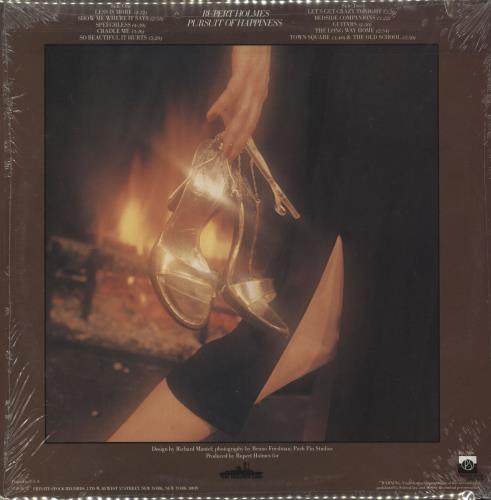 Rupert Holmes Pursuit Of Happiness vinyl LP album (LP record) US RHLLPPU733071
