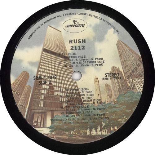 Rush 2112 (Twenty One Twelve) vinyl LP album (LP record) US RUSLPTW59285