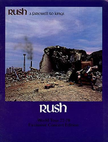 Rush A Farewell To Kings tour programme UK RUSTRAF75171
