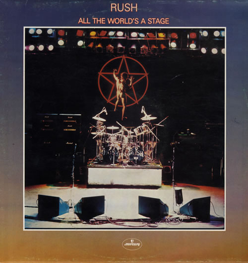 Rush All The World's A Stage - EX 2-LP vinyl record set (Double Album) UK RUS2LAL561445