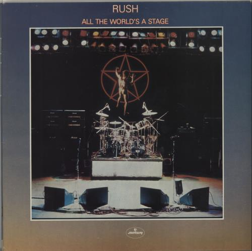 Rush All The World's A Stage 2-LP vinyl record set (Double Album) UK RUS2LAL223041