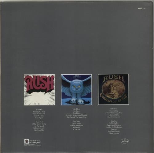 Rush Archives 3-LP vinyl record set (Triple Album) UK RUS3LAR58569