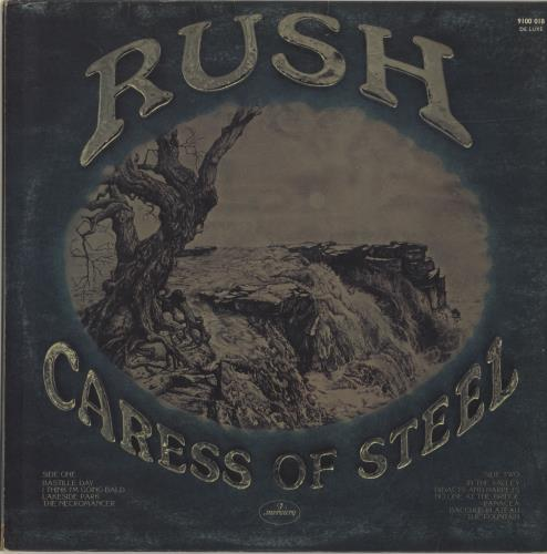 Rush Caress Of Steel - EX vinyl LP album (LP record) UK RUSLPCA606633