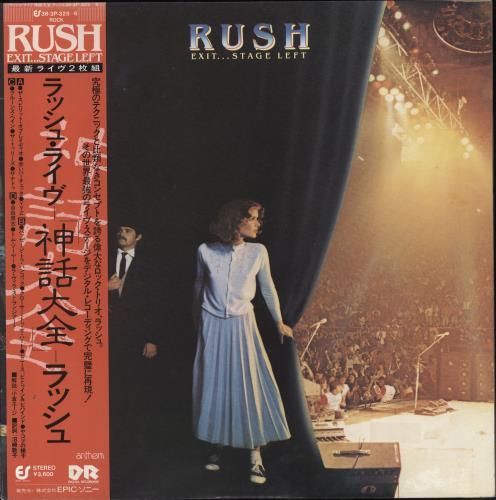 Rush Exit...Stage Left + obi 2-LP vinyl record set (Double Album) Japanese RUS2LEX178015