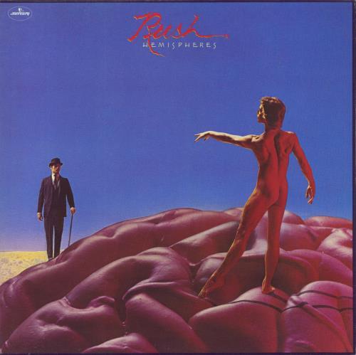 Rush Hemispheres - EX vinyl LP album (LP record) UK RUSLPHE264502