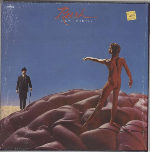 Rush Hemispheres - shrink vinyl LP album (LP record) UK RUSLPHE724723