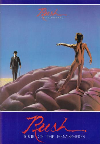 Rush Hemispheres - Tour Of The Hemispheres + Ticket Stub tour programme UK RUSTRHE756615