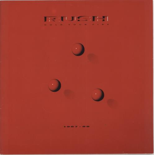Rush Hold Your Fire 1987-88 tour programme UK RUSTRHO260928