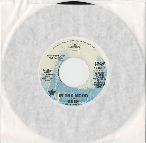"""Rush In The Mood 7"""" vinyl single (7 inch record) US RUS07IN464299"""