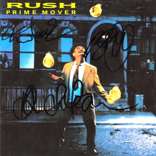 "Rush Prime Mover - Autographed 7"" vinyl single (7 inch record) UK RUS07PR521265"