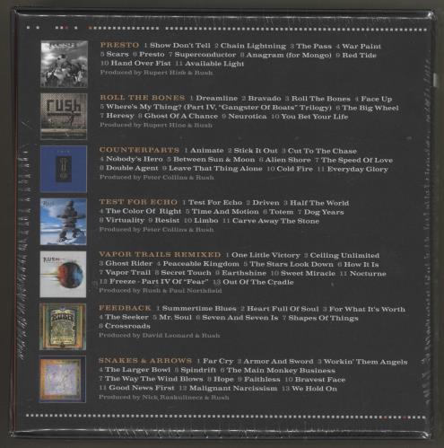 Rush The Studio Albums - 1989-2007 CD Album Box Set UK RUSDXTH716975
