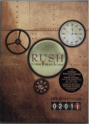 Rush Time Machine - Live In Cleveland 2011 DVD UK RUSDDTI671902
