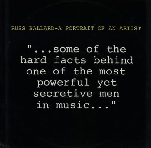 "Russ Ballard A Portrait Of An Artist 12"" vinyl single (12 inch record / Maxi-single) UK RBA12AP130138"