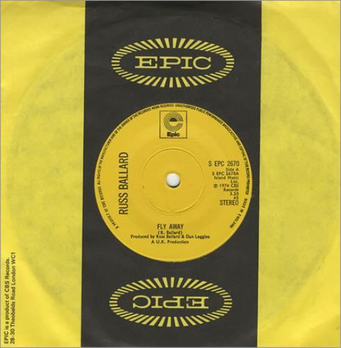 "Russ Ballard Fly Away 7"" vinyl single (7 inch record) UK RBA07FL405701"