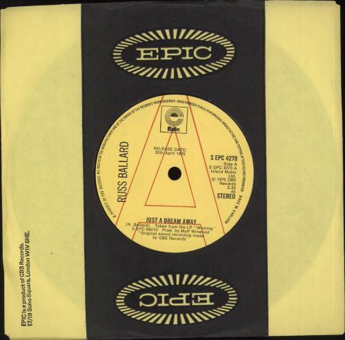 "Russ Ballard Just A Dream Away 7"" vinyl single (7 inch record) UK RBA07JU707731"