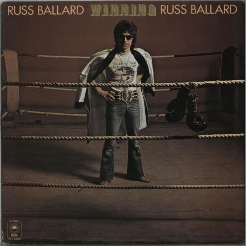 Russ Ballard Winning + Lyric insert vinyl LP album (LP record) UK RBALPWI645346