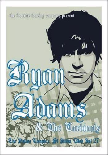 Ryan Adams Australian Tour Poster poster Australian YAAPOAU341764