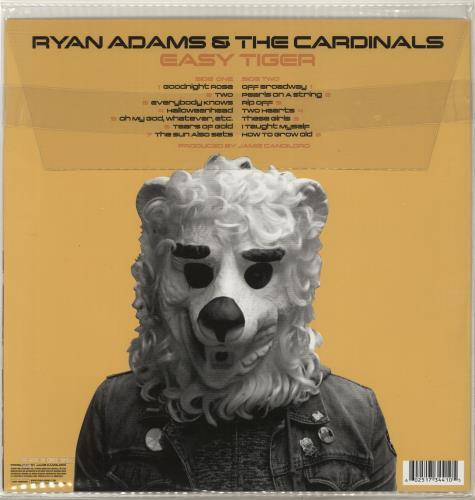 Ryan Adams Easy Tiger vinyl LP album (LP record) US YAALPEA704043