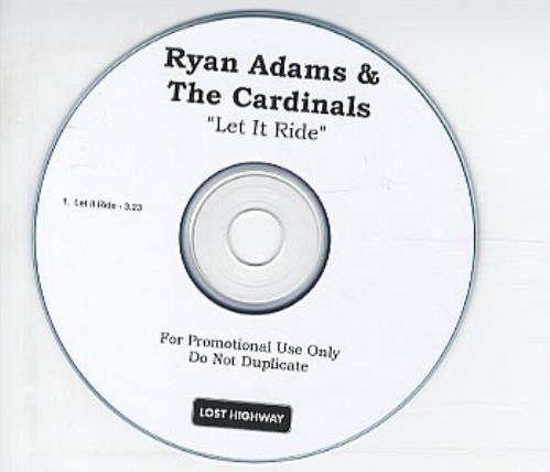 Ryan Adams Let It Ride CD-R acetate US YAACRLE326946