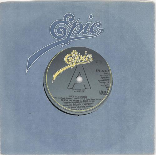 "Ryuichi Sakamoto Once In A Lifetime 7"" vinyl single (7 inch record) UK RYU07ON730419"