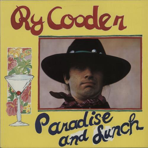 Ry Cooder Paradise And Lunch vinyl LP album (LP record) German RYCLPPA664876
