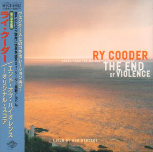 Ry Cooder The End Of Violence OST CD album (CDLP) Japanese RYCCDTH643028