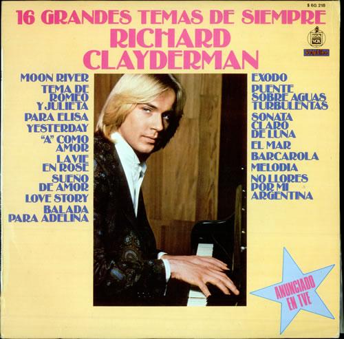 Richard Clayderman 16 Grandes Temas De Siempre vinyl LP album (LP record) Spanish RC1LPGR509543