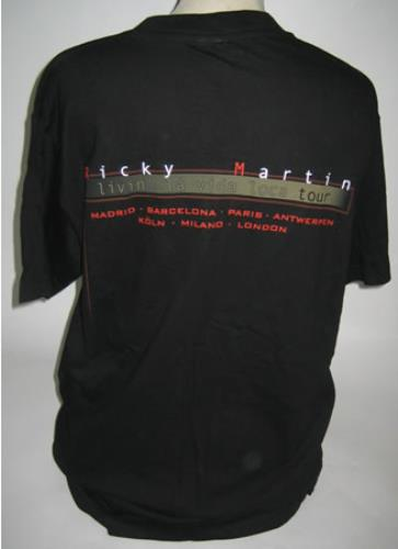 Ricky Martin Livin' La Vida Loca Tour t-shirt UK RKMTSLI417480