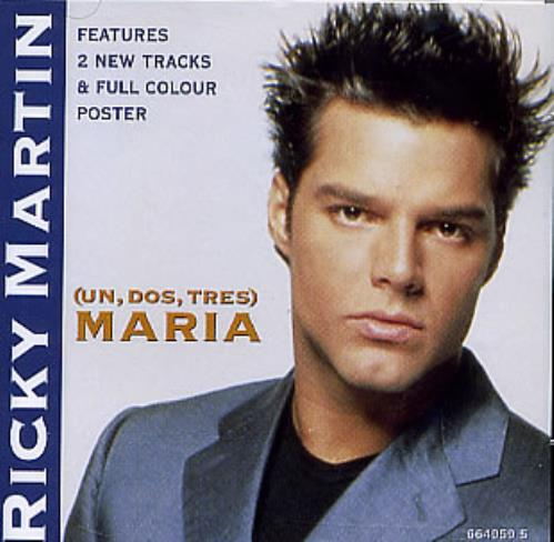 "Ricky Martin Maria + Poster CD single (CD5 / 5"") UK RKMC5MA144862"