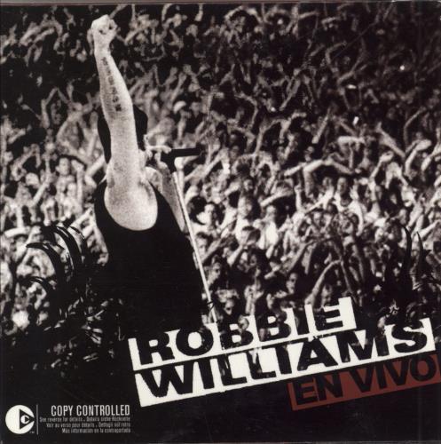 """Robbie Williams En Vivo CD single (CD5 / 5"""") Mexican RWIC5EN265708"""