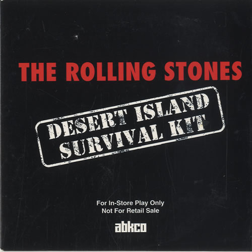 Rolling Stones Desert Island Survival Kit Us Promo Cd