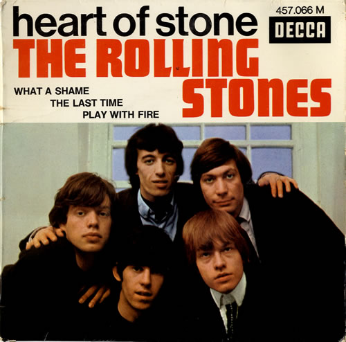 """Rolling Stones Heart Of Stone EP - 1st 7"""" vinyl single (7 inch record) French ROL07HE585785"""