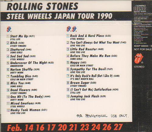 Rolling Stones Steel Wheels Japan Tour Japanese Promo 2 Cd