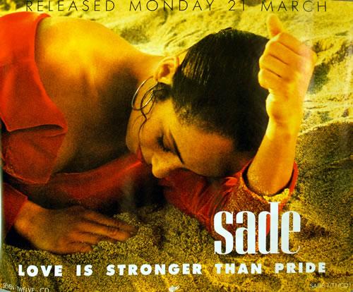 Sade Love Is Stronger Than Pride poster UK SADPOLO631636