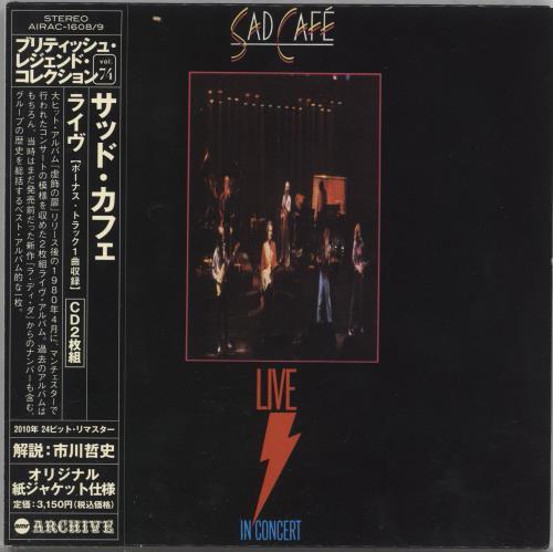 Sad Cafe Live In Concert 2 CD album set (Double CD) Japanese AFE2CLI718719