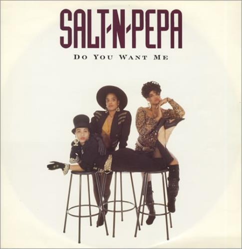 "Salt N Pepa Do You Want Me 12"" vinyl single (12 inch record / Maxi-single) UK S-P12DO162321"