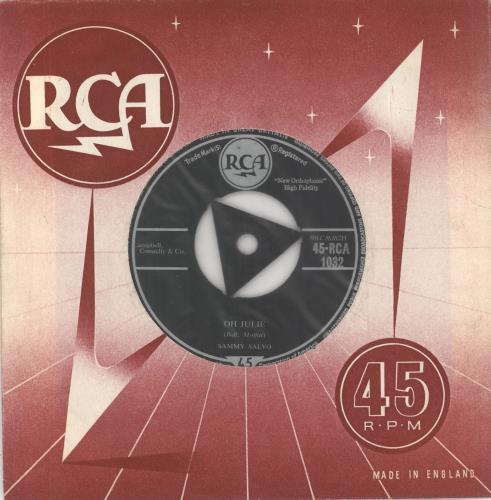 "Sammy Salvo Oh Julie 7"" vinyl single (7 inch record) UK Z2M07OH723401"
