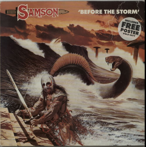 Samson Before The Storm + Poster vinyl LP album (LP record) UK SAMLPBE597381