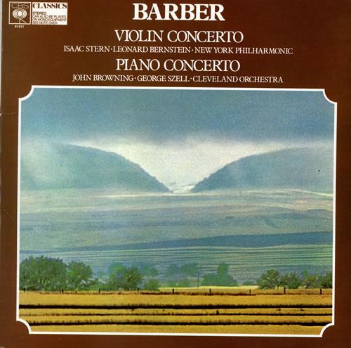 Samuel Barber Violin & Piano Concertos vinyl LP album (LP record) UK B15LPVI484398