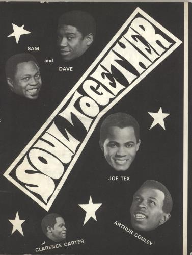 Sam & Dave Soul Together tour programme UK SXDTRSO742988