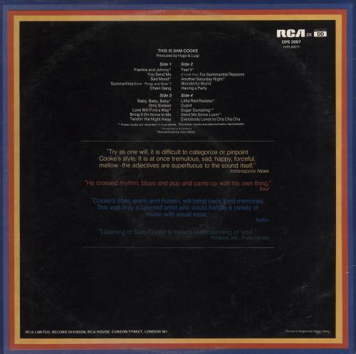 Sam Cooke This Is Sam Cooke 2-LP vinyl record set (Double Album) UK SAK2LTH737851