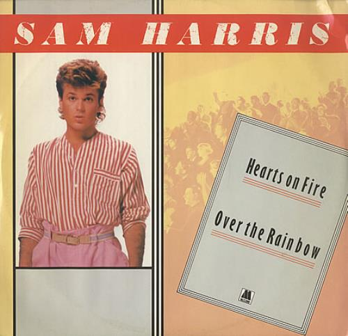 "Sam Harris Hearts On Fire 12"" vinyl single (12 inch record / Maxi-single) UK SRI12HE402429"